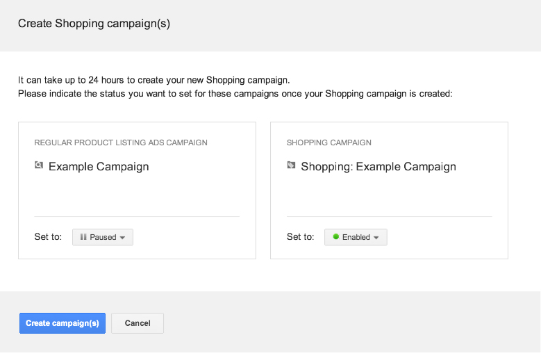 Google shopping tool