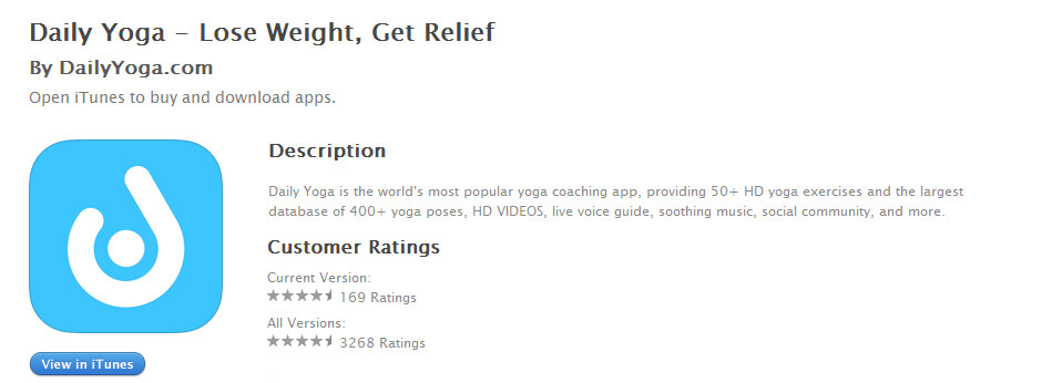 daily yoga iphone app