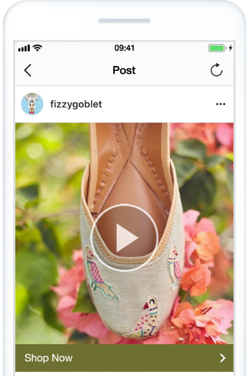 example of CTA button on instagram ads