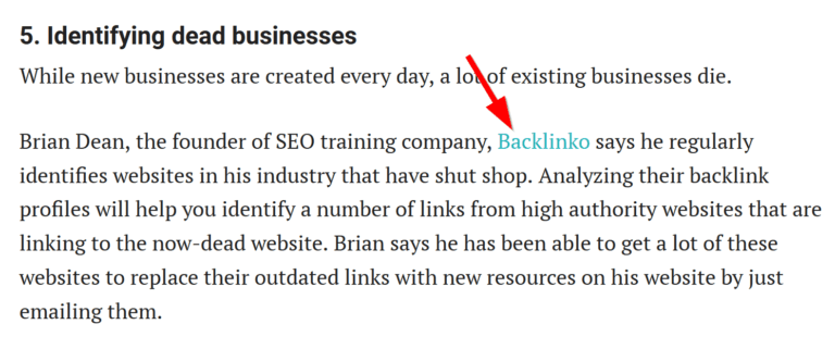 backlink of backlinko