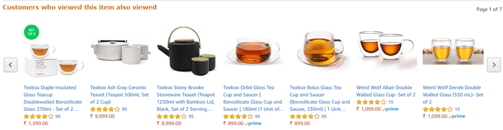 example of different teacups on amazon