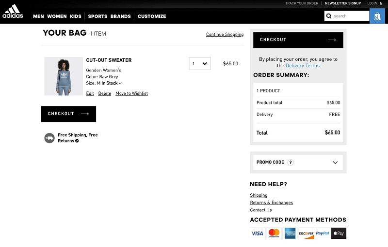 Add Proper Information In Cart Page