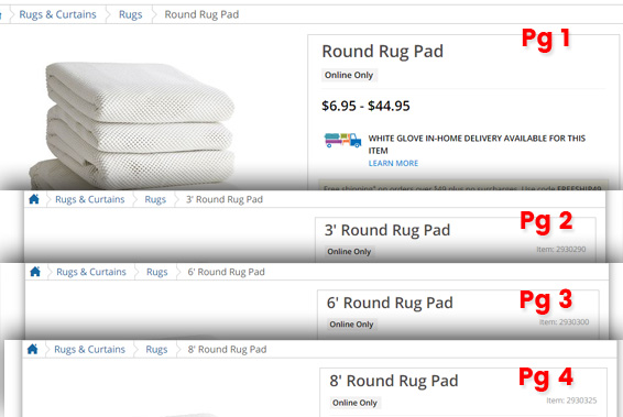 Consolidation Ecommerce Product Pages