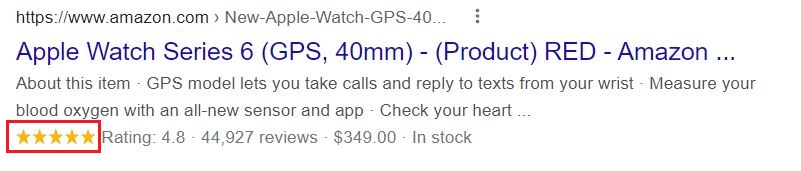 Rich Snippets for ecommerce  products